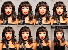 This Image Shows How Camera Lenses Beautify Or Uglify Your Pretty - How focal lengths can change the shape of your face