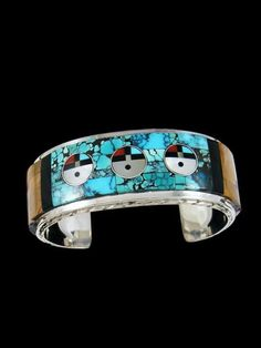 Zuni Sunface Inlay Sterling Silver Cuff Bracelet #SterlingSilverCuff Turquoise Cuff, Turquoise Jewelry, Turquoise Bracelet, Native American Fashion, Native American Jewelry, Silver Jewellery Indian, Silver Jewelry, Sterling Silver Cuff Bracelet, Cute Jewelry