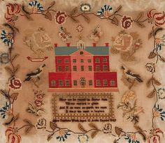 19th century needlepoint sampler, worked by Alice Taylor, dated 1847
