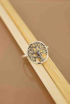 A beautifully detailed oak tree spreads its canopy of branches in this all sterling silver ring. This ring is ideal for everyday wearing. The circled tree measures Davison Davison Cloete Tree Of Life Ring, Tree Of Life Jewelry, Cute Jewelry, Jewelry Accessories, Silver Jewelry, Diamond Are A Girls Best Friend, Beautiful Rings, Tree Branches, Sterling Silver Rings