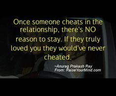 why would someone cheat
