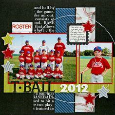 Baseball Scrapbook Page Baseball Scrapbook, School Scrapbook, Kids Scrapbook, Scrapbook Paper Crafts, Scrapbook Cards, Scrapbooking Ideas, Scrapbook Albums, Scrapbook Photos, Scrapbook Sketches