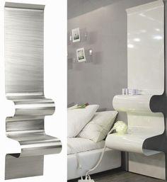 nachttisch design wandmontage wellen aluminium vidame creation
