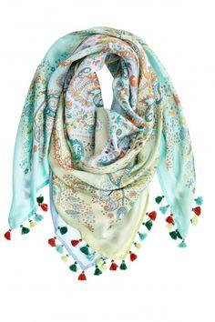 Habutai Paisley Printed Silk Scarf     Calypso St. Barth