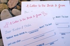 Hey, I found this really awesome Etsy listing at http://www.etsy.com/listing/101270630/wedding-mad-lib-letter-to-bride-and