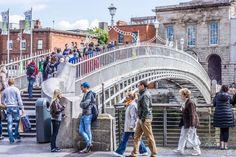 Ha'penny Bridge In Dublin Love Ireland, Dublin Ireland, Travel Around The World, Around The Worlds, Millennium Bridge, Puzzle Of The Day, Republic Of Ireland, Emerald Isle, Travel Memories