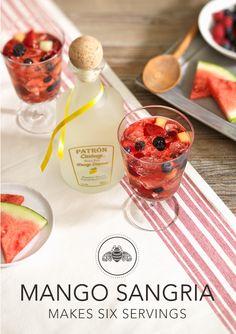 Patrón Mango Sangria for 6 | #Friendsgiving #recipes #Patron http://www.patrontequila.com/cocktails/citronge-mango/mango-sangria.html