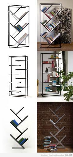 Unique shelves.