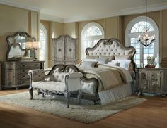 White arabella bedroom set from Accentrics Home by Pulaski Furniture.