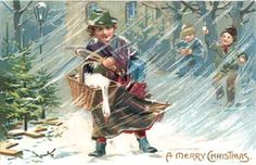 Vintage and Antique Postcards: A Christmas Goose