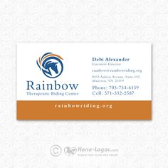 26 best horse business cards images on pinterest horse logo updated logo and business card design created for debi alexander of rainbow therapeutic riding center colourmoves