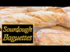 Official Post from John Kirkwood: How to make Sourdough baguettes, easy step by step simple instructions from start to finish No Carb Recipes, Home Recipes, New Recipes, Favorite Recipes, Starter Recipes, Sourdough Baguette Recipe, Sourdough Recipes, Sourdough Bread, Bun In The Oven