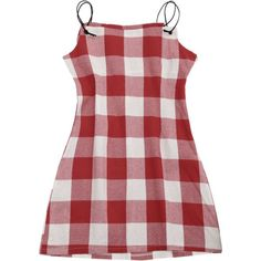Checked Cami Shift Dress ($16) ❤ liked on Polyvore featuring dresses, gingham, zaful, camisole dress, cami dress, check print dress, red shift dress and checked dress #camidress