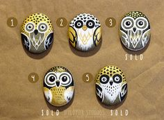 Painted Owl Rock Choose Your Own by WildfoxStudios on Etsy