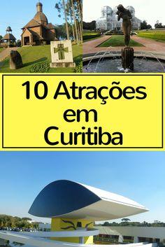 Curitiba têm diversas atrações para incluir no seu roteiro de viagem na cidade, mas existe aqueles imperdíveis que você não pode deixar de fora, o Museu Oscar Niemeyer, Jardim Botânico, Memorial Ucraniano e Ópera do Arame são apenas algumas delas.
