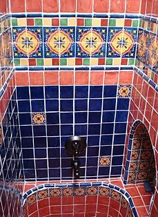 Http Www Kristiblackdesigns Images Bath Katz Mexican Tilestile