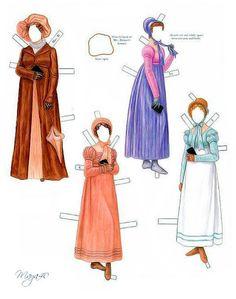 Pride and Prejudice paper dolls by Brenda Sneathen Mattox - Nena bonecas de papel - Picasa Web Albums