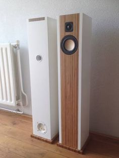 Speakers build with bamboo