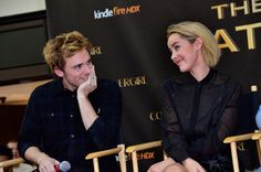 Sam Claflin and Jena Malone at Victory Tour Cherry Hill