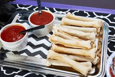 These delicious bones are made from store-bought bread-stick dough, and a little marinara sauce adds a bit of zing.
