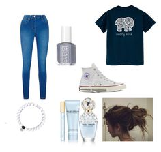 """""""cute!!!!"""" by madelynnnnnnnne on Polyvore featuring Converse, Essie and Marc Jacobs"""