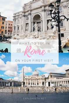 Space Guide What to see in Rome on your first visit - Rome is overwhelming with all of its beautiful sights. Wondering what to see in Rome on your first visit? I've written an extensive guide for you! Italy Travel Tips, Rome Travel, Travel Abroad, Greece Travel, Travelling Tips, Travel Europe, Cool Places To Visit, Places To Travel, Travel Destinations