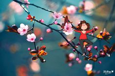 Japanese Cherry Blossoom Branch Photographic Print on Canvas East Urban Home Size: 90 L x 60 W Painting Prints, Canvas Prints, Poster Mural, Blossom Trees, Pink Blossom, Cherry Blossoms, Spring Day, Spring Tree, Canvas Pictures