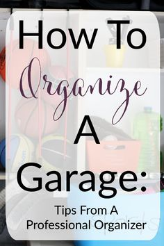 Garage space can seem overwhelming to organize, so where do you start? Professional organizers break down steps for how to organize a garage. Garage Storage Solutions, Diy Garage Storage, Garage Shelf, Garage Shelving, Pegboard Garage, Garage Office, Storage Systems, Garage Cabinets, Wall Storage