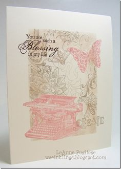 Stampin' Up! CAS One Layer  by LeAnne Pugliese at WEEinklings