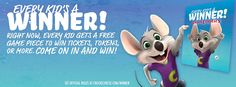 Every kid is a winner at Chuck E. Cheese's this summer! Click to read more about our summer promotion!
