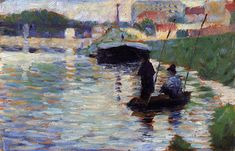 George Seurat (French, 1859-1891) - The Bridge - View of the Seine, 1882-1883