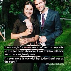 Jamie and Amelia, what a beautiful couple
