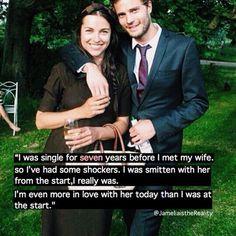 Jamie and Amelia, what a beautiful couple