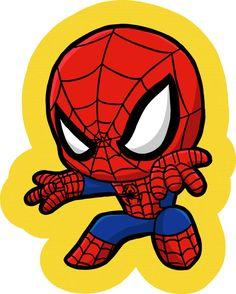Baby Spiderman, Spiderman Theme, Baby Superhero, Art Painting Gallery, Marvel Art, Marvel Characters, Character Illustration, Cartoon Drawings, Chibi