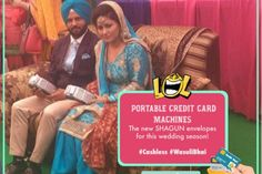 Cashless Economy| Funny quote| funny pictures| lol | punjabi couple| bride and groom| credit card| The ultimate guide for the Indian Bride to plan her dream wedding. Witty Vows shares things no one tells brides, covers real weddings, ideas, inspirations, design trends and the right vendors, candid photographers etc.| #bridsmaids #inspiration #IndianWedding | Curated by #WittyVows - Things no one tells Brides | www.wittyvows.com