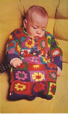 ~~~~~~~~~~~~ ORIGINAL CROCHET PATTERN ~~~~~~~~~~ Infants Granny Square Baby Bunting ~~~~~~~~~~~~~~~~~~~~~~~~~~~~~~~~~~~~~~~~~  See photos for
