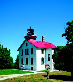 Grand Traverse Lighthouse located at the tip of the Leelanau Peninsula on Cathead Bay, near the village of Northport, MI. This is one of the oldest lighthouses on the Great Lakes, guiding ships through the northern entrance to the Manitou Passage for 150 years. It is now a museum surrounded by a state park where visitors can envision the once-isolated life of lighthouse keepers and their families, with extensive exhibits and period furnishings from the 1920's-30's.