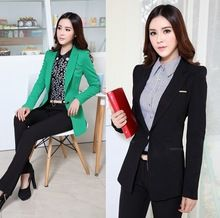 Formal Pantsuits Women Business Suits with Pant and Blazer Sets Blazer Terno Feminino Work Wear Office Uniform Designs(China (Mainland))