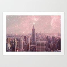 Stardust Covering New York Art Print by Bianca Green - $18.00