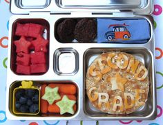 BentoLunch.net - What's for lunch at our house: First Day of School Bento & a PlanetBox