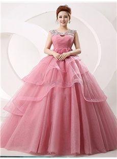 双肩 編み上げデザインの ロングドレス 披露宴ドレス 結婚式ドレス