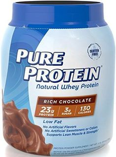 Pure Protein Natural Whey Powder - Rich Chocolate 1.6 pounds