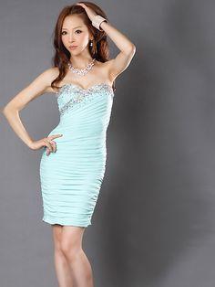 【楽天市場】山崎みどり 着用 ドレス 胸元ビジュー シャーリング ミニドレス ワンピース【ワンピ