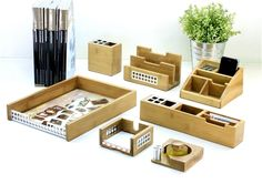 We Love The Bamboo Desk Accessories Collection For Eco Friendly Dad