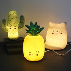 Add some fun to your home with our Hi-Kawaii Cactus Lamp from House of Disaster. Nursery Lighting, Kids Lighting, Boy Room, Kids Room, Halloween Bedroom, Stained Glass Angel, Colourful Living Room, Cute Room Decor, Cool Kitchen Gadgets