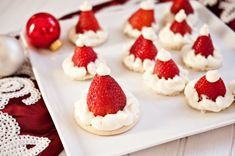 Santa hat cookies for the holiday season! #adorable #christmas #ideas