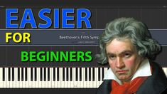 Beethoven's Fifth Symphony EASIER Piano tutorials for everybody normal speed Easy Piano, Tutorials, Wizards