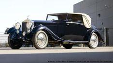 1934 H.J. Mulliner Rolls-Royce Phantom II Continental Drop Head Sedanca Coupe.