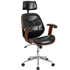 Leather Executive Chair With Headrest