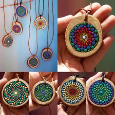 New to my shop...Mountain Mandala Necklaces A little slice of Mother Nature.  Only $35